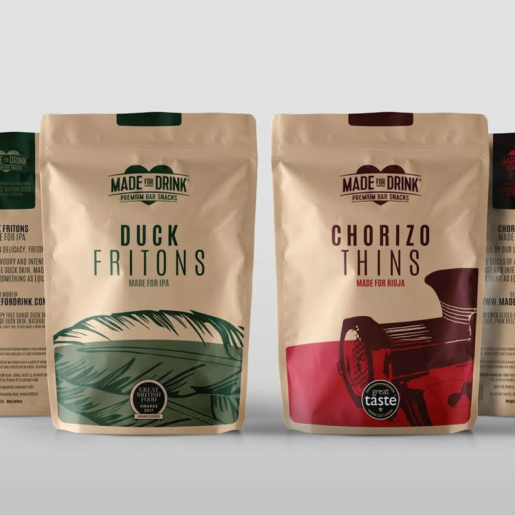 6 x Meat Snacks for Beer & Wine with Chorizo Thins & Duck Fritons