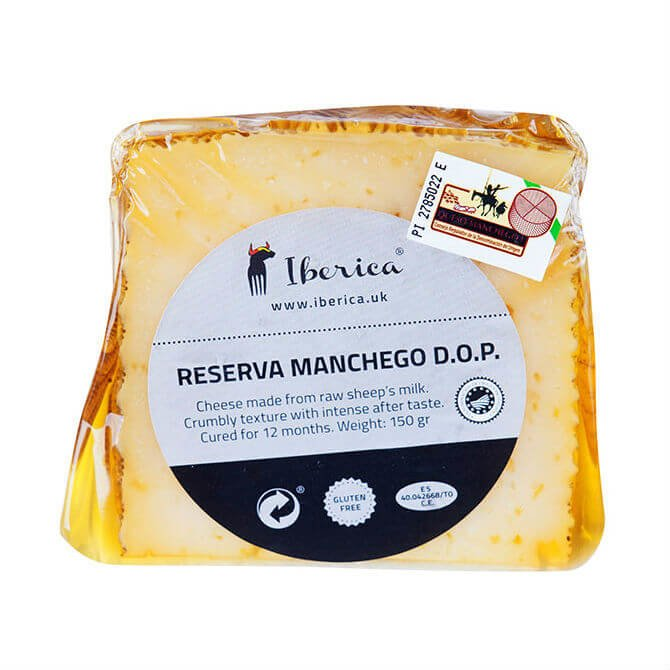Reserva Manchego with Olive Oil 12 Month Aged Cheese DOP 150g