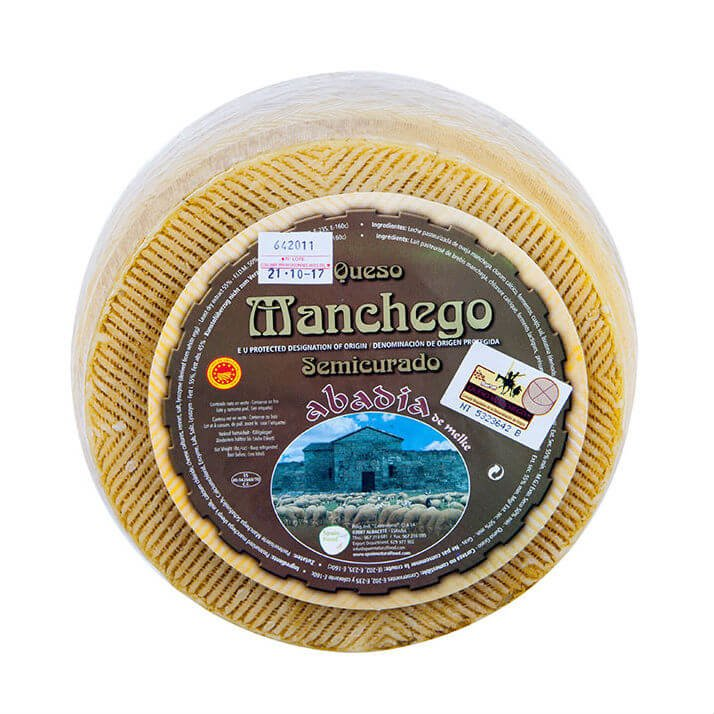 3kg 6 Month Aged Semi-Cured Manchego Cheese Wheel DOP