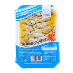 Boquerones White Anchovies in Vinegar, Olive Oil, Garlic & Parsley 100g (Ready To Eat)
