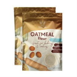 2 x Wholegrain Oatmeal Flour 500g (Gluten Free, Wheat Free)