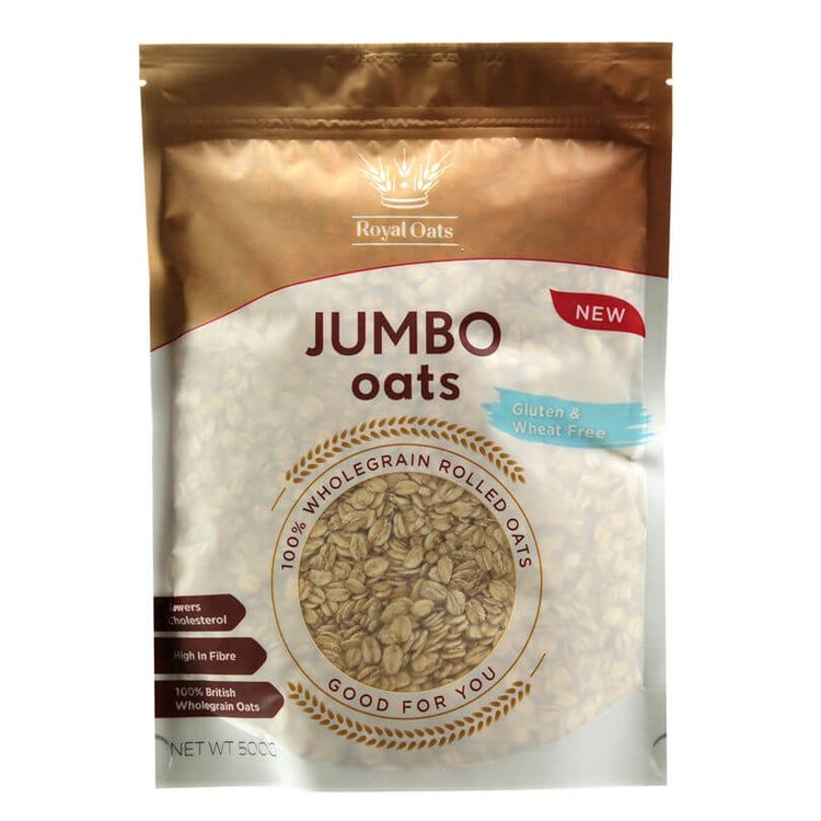 Wholegrain Rolled Jumbo Oats 500g (Gluten Free, Wheat Free)