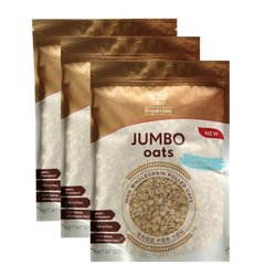 3 x Wholegrain Rolled Jumbo Oats 500g (Gluten Free, Wheat Free)
