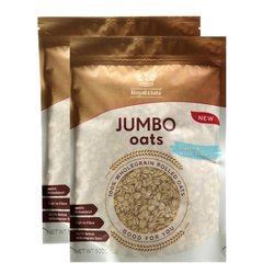 2 x Wholegrain Rolled Jumbo Oats 500g (Gluten Free, Wheat Free)