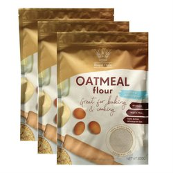 3 x Wholegrain Oatmeal Flour 500g (Gluten Free, Wheat Free)