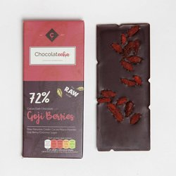Goji Berry Peruvian 72% Dark Raw Chocolate Bar with Maca 35g