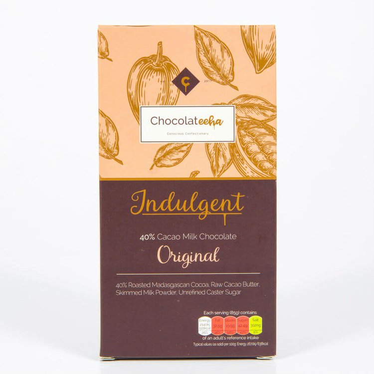 40% Cacao Madagascan Milk Chocolate Bar 85g