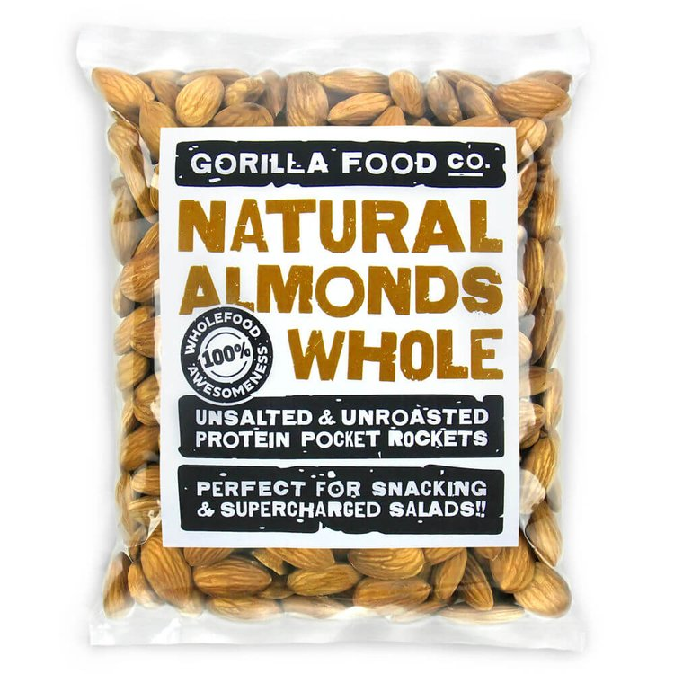 100g Whole Natural Californian Almonds (Nonpareil Variety)