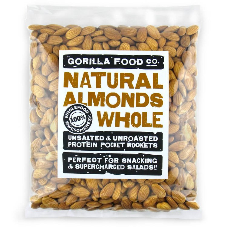 800g Whole Natural Californian Almonds (Nonpareil Variety)