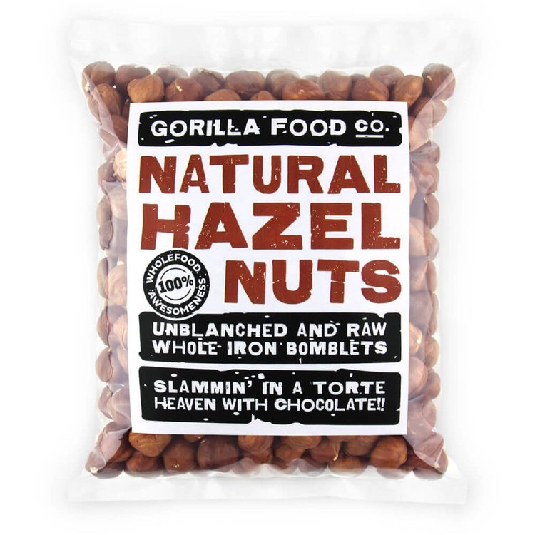 100g Raw Whole Natural Hazelnuts (Unblanched)
