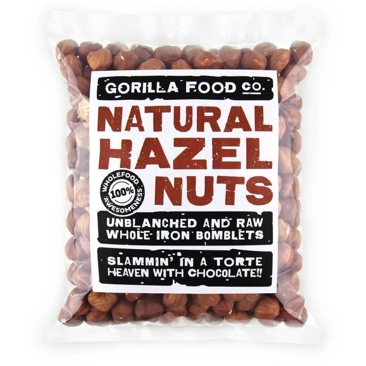 200g Raw Whole Natural Hazelnuts (Unblanched)