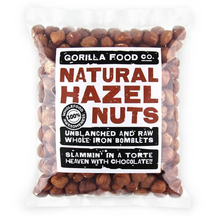 400g Raw Whole Natural Hazelnuts (Unblanched)
