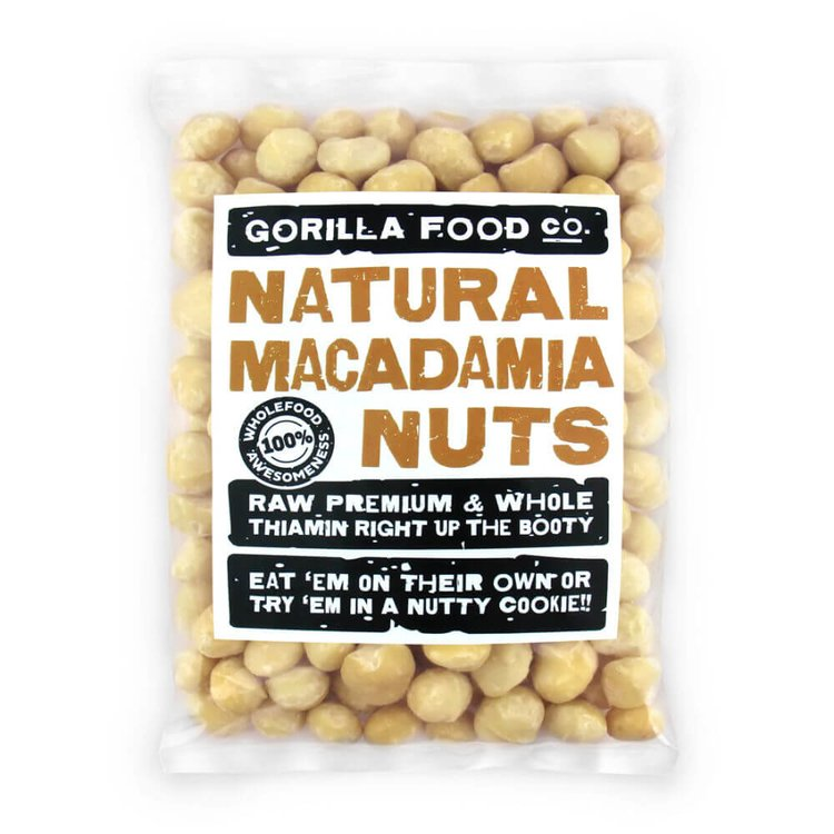 100g Natural Whole Macadamia Nuts (Unsalted, Unroasted)