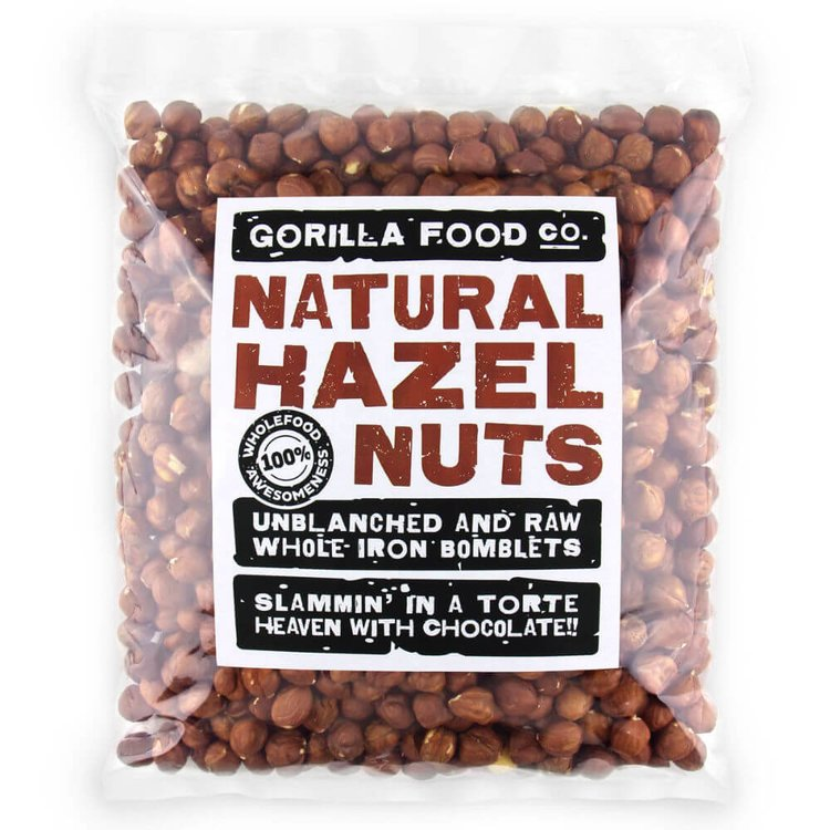 800g Raw Whole Natural Hazelnuts (Unblanched)