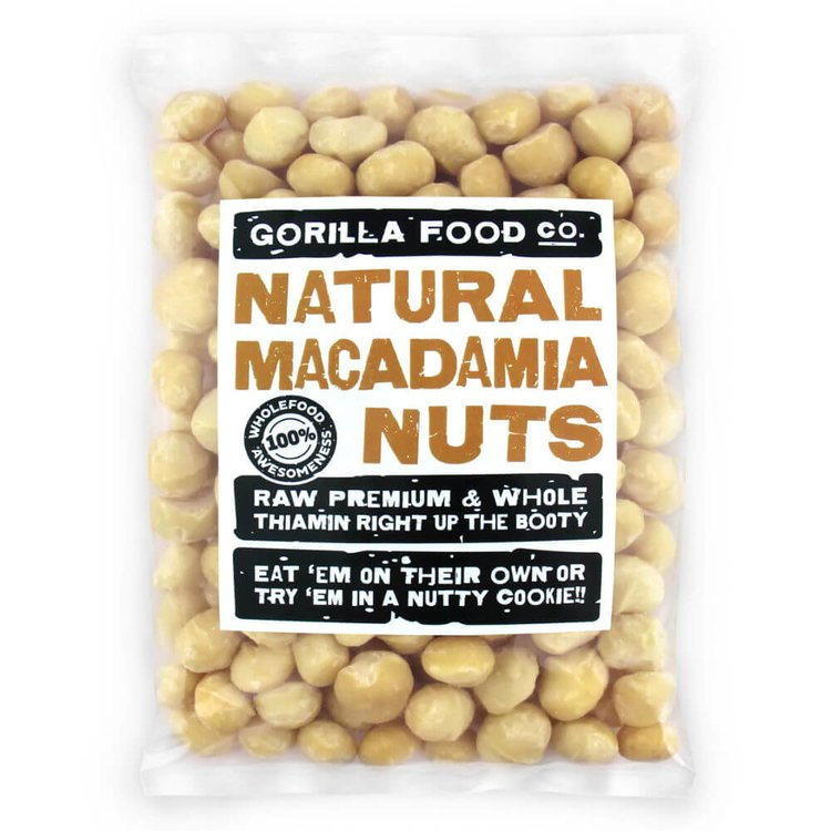 400g Natural Whole Macadamia Nuts (Unsalted, Unroasted)