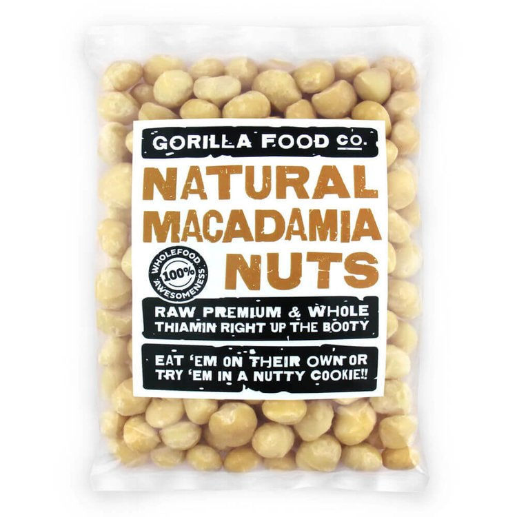 200g Natural Whole Macadamia Nuts (Unsalted, Unroasted)