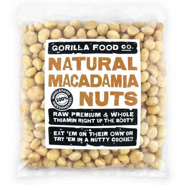 800g Natural Whole Macadamia Nuts (Unsalted, Unroasted)