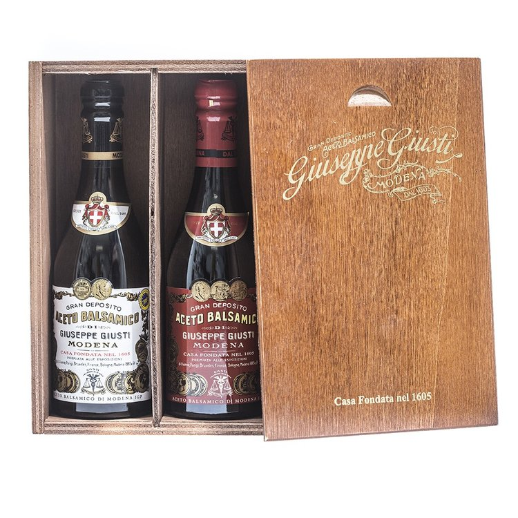 Giuseppe giusti wooden gift set 2 x250ml
