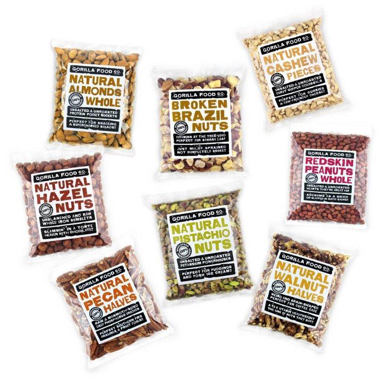 8 x 200g Mega Nut Mixed Pack Inc. Almonds, Pistachios, Cashews & Pecan Nuts