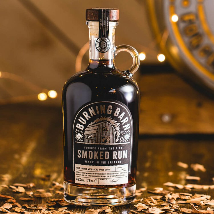 Smoked Rum - Cold Smoked with Local Apple Wood 70cl 40% Vol.