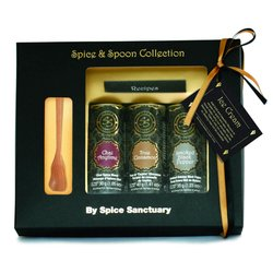 'Ice Cream' Organic Spice Gift Set with Wooden Spoon