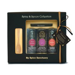 Gourmet Popcorn Organic Spice Gift Set with Wooden Spoon