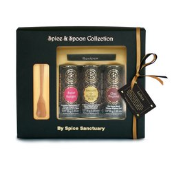 Organic Spiced Lattes Gift Set with Wooden Spoon & Recipes