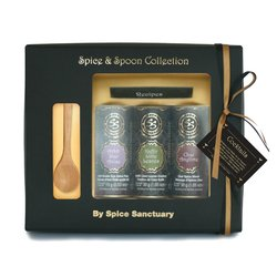 Organic Cocktail Spices Gift Set with Wooden Spoon & Recipes