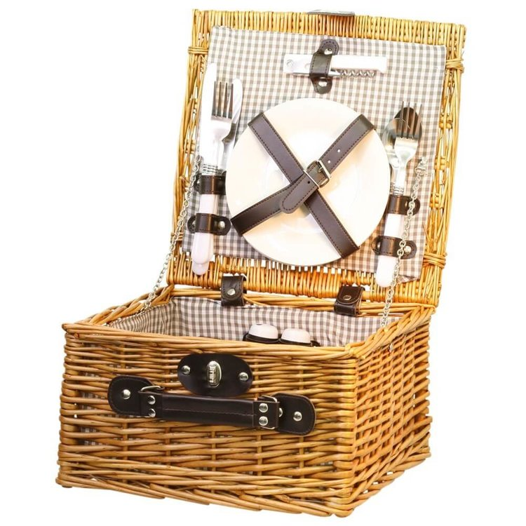 Wicker Picnic Hamper For 2