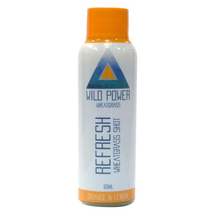 14 x 'Refresh' Wheatgrass Shot with Orange & Lemon Juice 60ml (Ready to Drink)