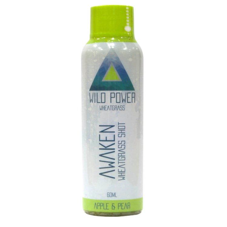7 x 'Awaken' Wheatgrass Shot with Apple & Pear Juice 60ml (Ready to Drink)