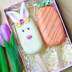 Bunny Animal Cake 'Popsicles' Gift Box