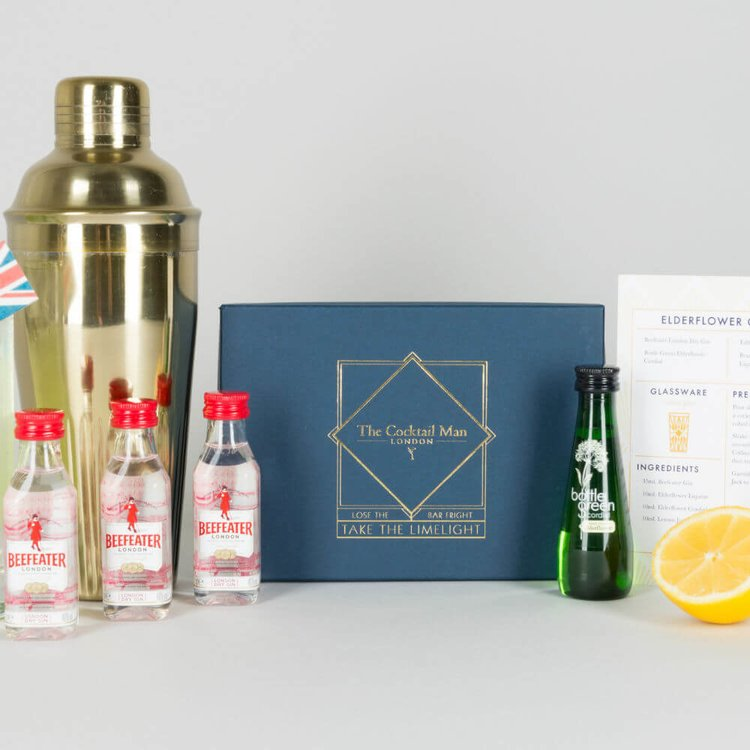 Elderflower Collins Cocktail Gift Box with London Dry Gin & Liqueur