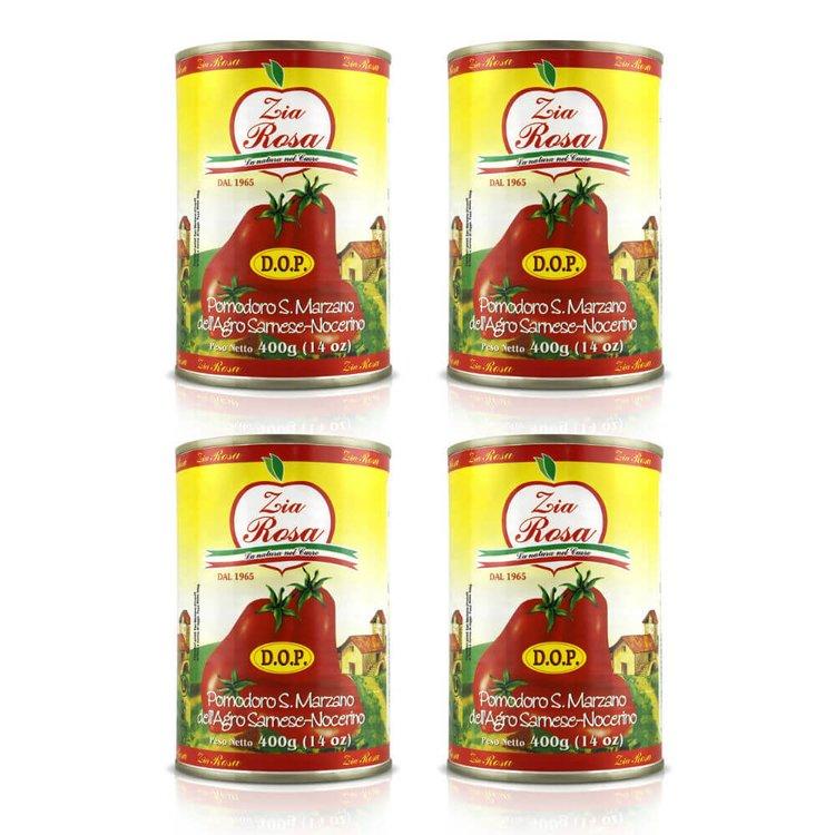 4 x San Marzano Tinned Tomatoes D.O.P. 400g