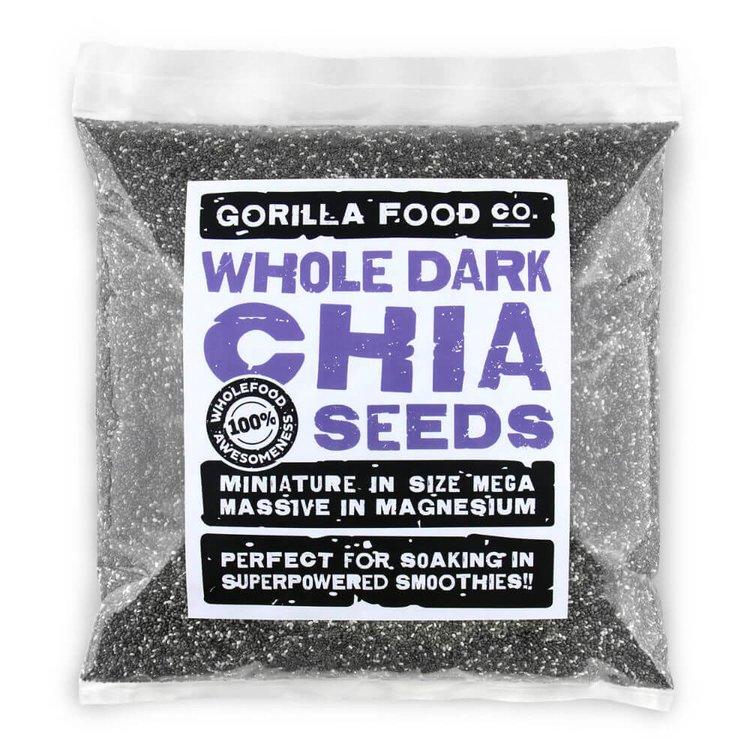 800g Whole Dark Chia Seeds