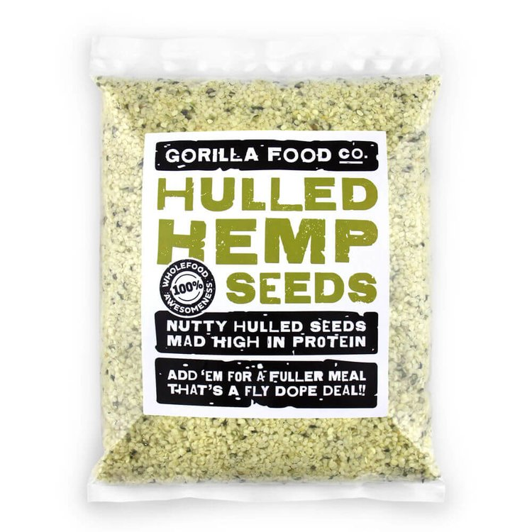 200g Organic Hulled Hemp Seeds