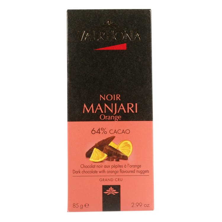 Manjari Dark Chocolate & Orange Bar 85g