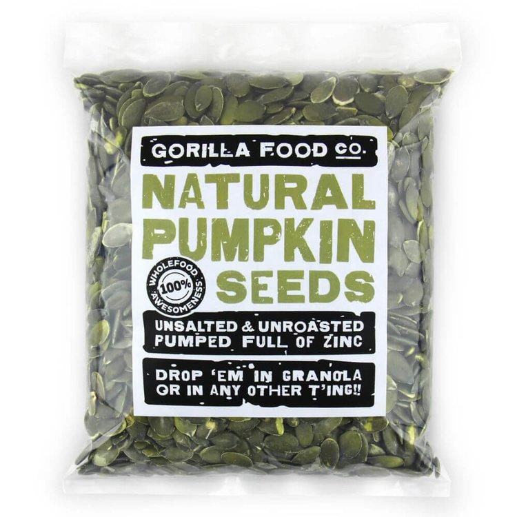 200g Raw Natural Pumpkin Seeds (Grade AA)