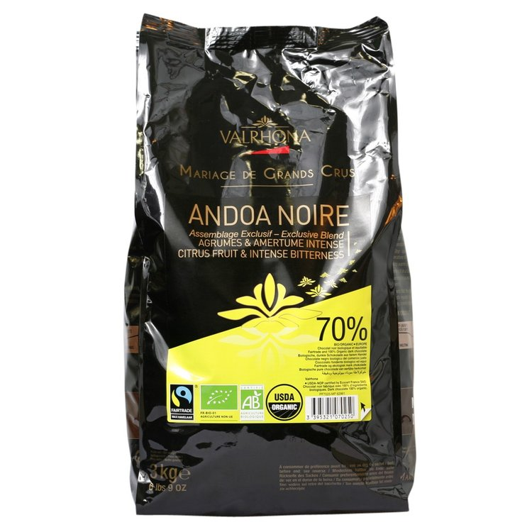 Andoa Noire 70% Dark Chocolate Buttons 3kg