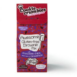 Awesome Gluten-Free Brownie Baking Mix with Chocolate Chips & Corn Flour 361g