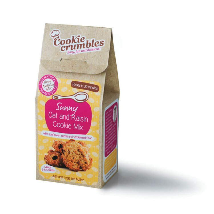 Oat & Raisin Cookie Baking Mix with Sunflower Seeds & Wholemeal Flour 390g
