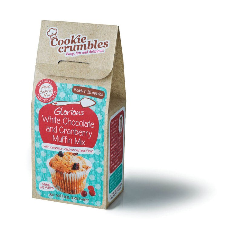 Glorious White Chocolate & Cranberry Muffin Baking Mix with Cinnamon & Wholemeal Flour 261g