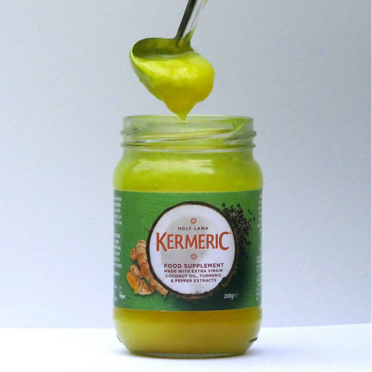 Kermeric Food Supplement with Extra Virgin Coconut Oil & Turmeric 200g