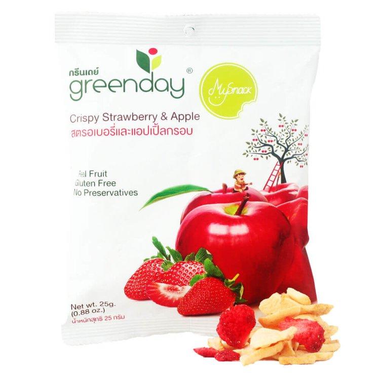 12 x Freeze Dried Strawberry & Apple Crisps (12 x 25g Bags)