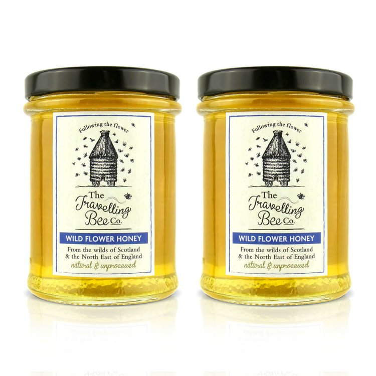 2 x Raw British Wild Flower Honey 227g