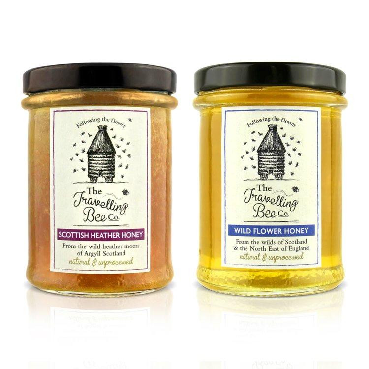 Raw British Wild Flower & Scottish Heather Honey Set (2 x 227g)