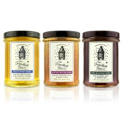 Raw Honey Set with Wildflower, Heather & Mountain Honey (3 x 227g)