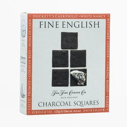 Fine English Charcoal Squares for Cheese 125g