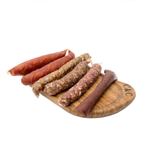 Artisan Sausage Bundle of Salami & Chorizo 6 x 80g