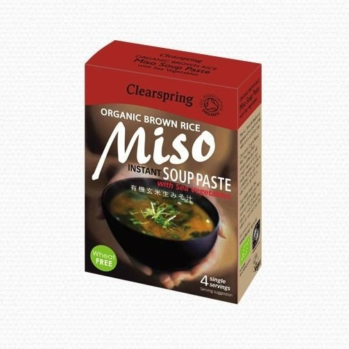 Instant Organic Brown Rice Miso Soup Paste 4 x 15g